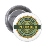 Authentic Plumber Pinback Buttons