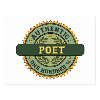Authentic Poet Post Card
