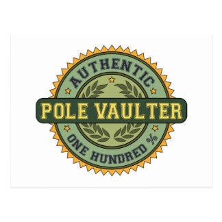 Authentic Pole Vaulter Postcard