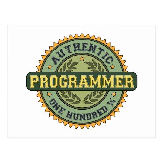 Authentic Programmer Postcard