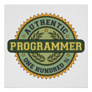 Authentic Programmer Poster