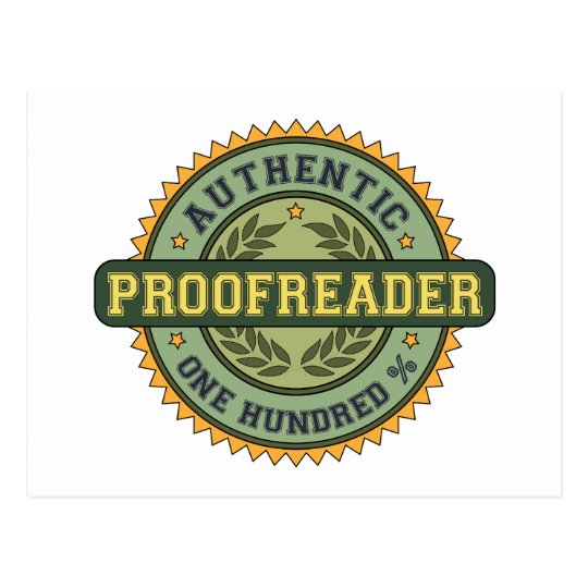 Authentic Proofreader Postcard