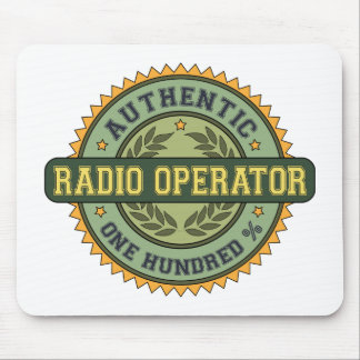 Authentic Radio Operator Mouse Pad
