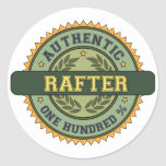 Authentic Rafter Round Stickers