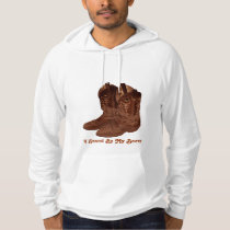 Authentic Ranch-hand Wrangler Cowboy Boots Design Hoodie