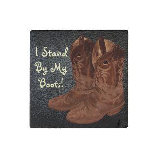 Authentic Ranch-hand Wrangler Cowboy Boots Design Stone Magnet