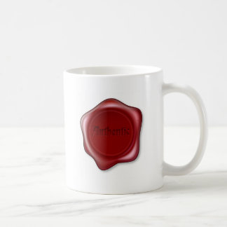 Authentic red wax seal illustration mugs