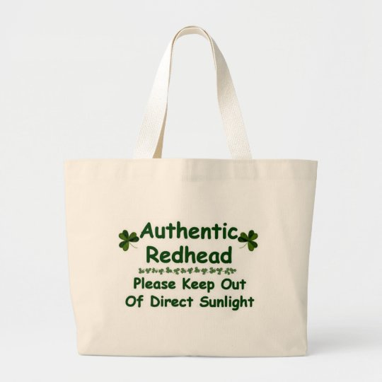 Authentic Redhead Large Tote Bag