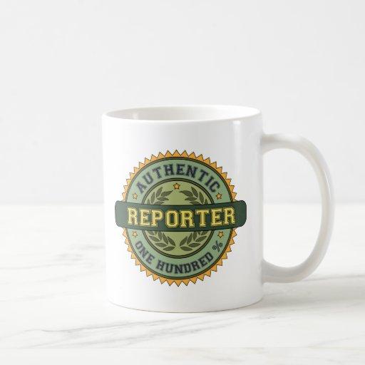 Authentic Reporter Classic White Coffee Mug