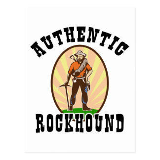 Authentic Rockhound Postcard