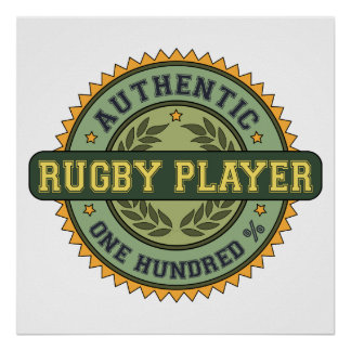Authentic Rugby Player Poster