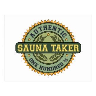 Authentic Sauna Taker Post Card