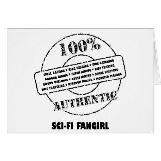 Authentic SciFi Fangirl Card