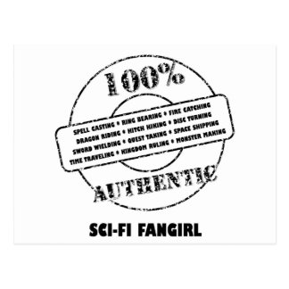 Authentic SciFi Fangirl Postcard