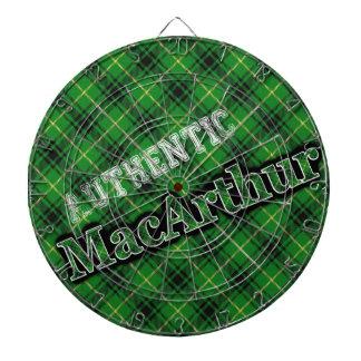 Authentic Scottish Clan MacArthur Tartan Dartboard