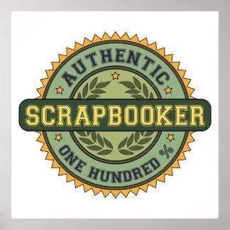 Authentic Scrapbooker Poster