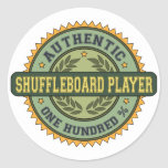 Authentic Shuffleboard Player Classic Round Sticker