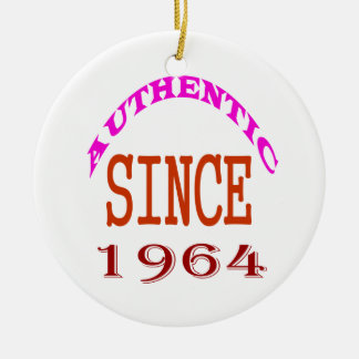 Authentic Since 1964 Birthday Designs Ceramic Ornament