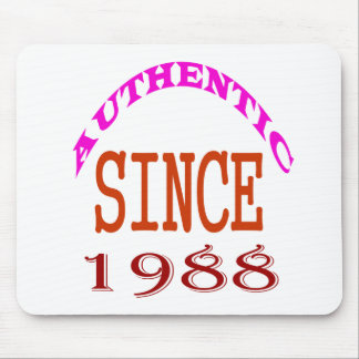 Authentic Since 1988 Birthday Designs Mouse Pad