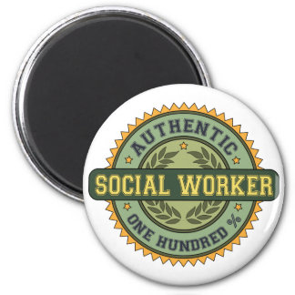 Authentic Social Worker 2 Inch Round Magnet