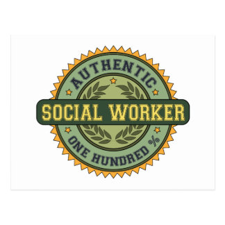 Authentic Social Worker Postcards
