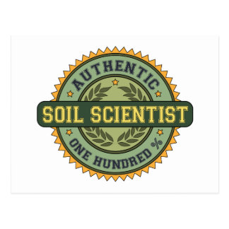 Authentic Soil Scientist Postcard