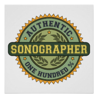 Authentic Sonographer Poster