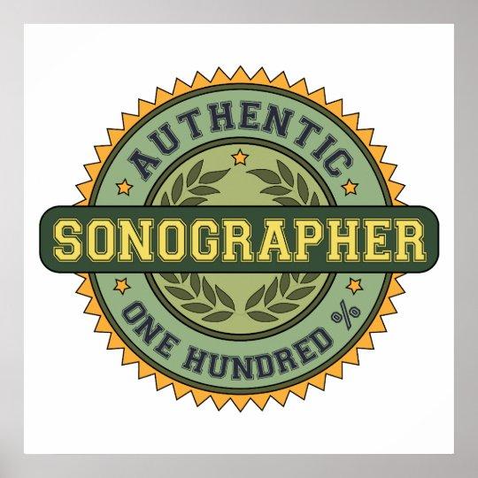 Authentic Sonographer Poster