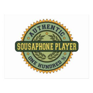 Authentic Sousaphone Player Postcard