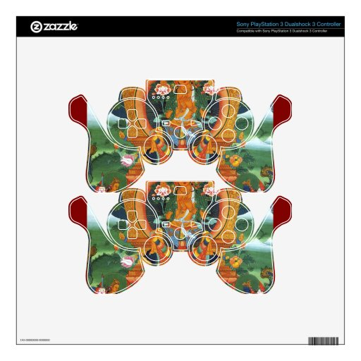 Authentic Spiritual Buddhist Art Images on Skins PS3 Controller Decals