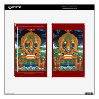 Authentic Spiritual Buddhist Art Images on Skins Decals For Kindle Fire