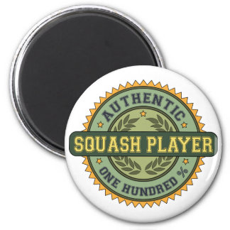Authentic Squash Player 2 Inch Round Magnet