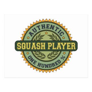Authentic Squash Player Postcards