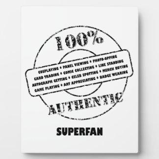 Authentic Superfan Plaque