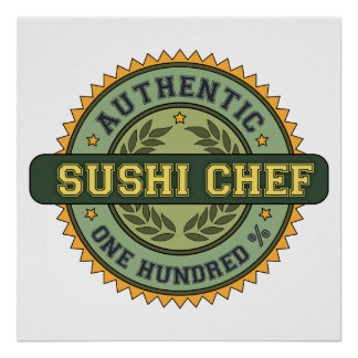 Authentic Sushi Chef Poster