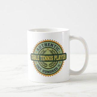 Authentic Table Tennis Player Coffee Mugs