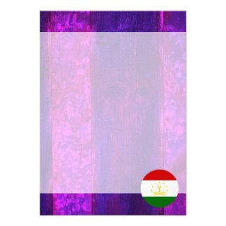"""Authentic Tajik Flag 5"""" X 7"""" Invitation Card"""