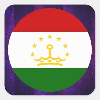 Authentic Tajik Flag Square Sticker