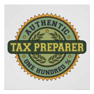 Authentic Tax Preparer Poster