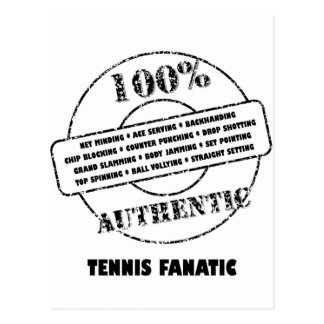 Authentic Tennis Fanatic Postcard