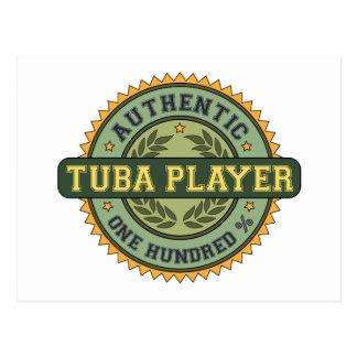 Authentic Tuba Player Postcard