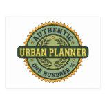 Authentic Urban Planner Postcard