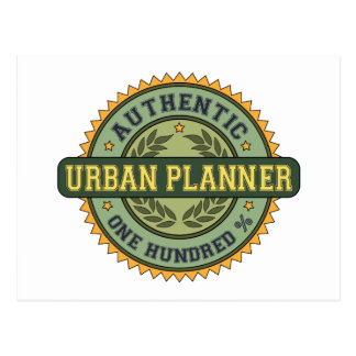 Authentic Urban Planner Postcard