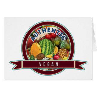 Authentic Vegan Card