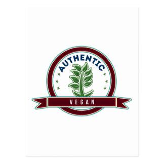 Authentic Vegan Postcard