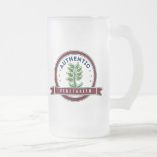 Authentic Vegetarian Frosted Glass Beer Mug