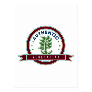 Authentic Vegetarian Postcard