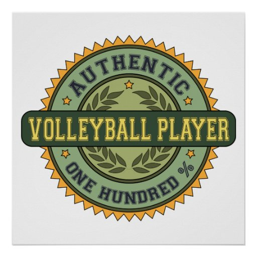 Authentic Volleyball Player Poster