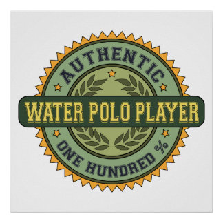 Authentic Water Polo Player Poster