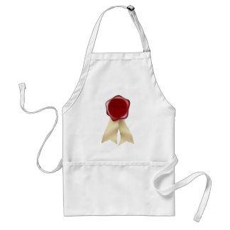 Authentic Wax Seal and ribbon Apron